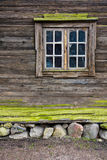 Cottage window. Window of a old wooden cottage Stock Photos