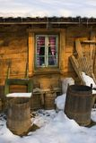 Cottage Window. The window of an old wooden country house Stock Images