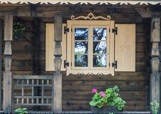 Cottage window Stock Image