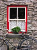 Cottage window in Ireland Stock Images