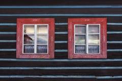 Cottage windows Royalty Free Stock Photo