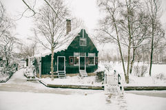 A cottage in winter Royalty Free Stock Photo