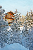 Cottage in winter forest Royalty Free Stock Photography