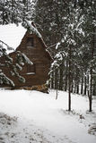 Cottage in the winther Royalty Free Stock Photography