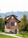 Cottage in Zurich park Royalty Free Stock Images