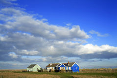 Cottages. Holiday cottages on Suffolk Coast Eastern England Royalty Free Stock Photos