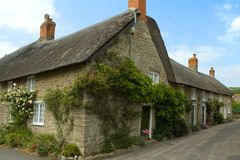 Cottages in Abbotsbury Stock Photo
