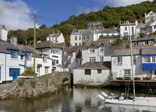 Cottages At Polperro Stock Photo