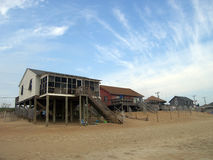 Cottages on the beach in North Carolina Royalty Free Stock Image