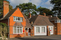 Cottages at Bletchley Park, Buckinghamshire, England Stock Photos