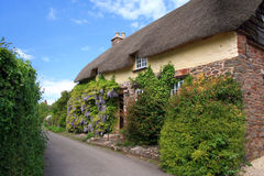 Cottages in Bossington on Exmoor. Thatched cottages in the village of Bossington on Exmoor Royalty Free Stock Photography