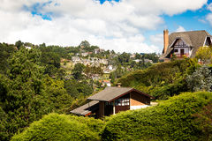 Cottages in Campos do Jordao. Country houses in Campos do Jordao, Sao Paulo, Brazil Stock Image