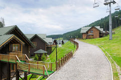 Cottages in Carpathian Mountains Stock Photography