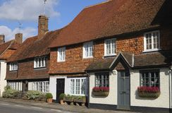 Cottages chez Chiddingfold. Surrey. LE R-U Photographie stock libre de droits