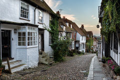 Cottages on a Cobbled Street Stock Photography