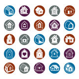 Cottages collection, real estate and construction theme. Houses Royalty Free Stock Image