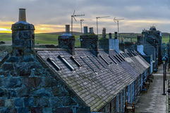 Cottages d'Aberdeen Photographie stock libre de droits