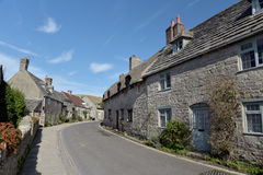 Cottages dans le village de Corfe Images libres de droits