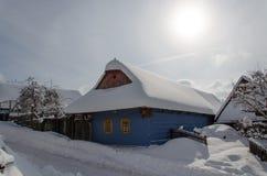 Cottages dans le vlkolinec photo libre de droits