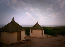 Cottages de côté de mer Photo stock