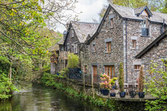 Cottages de village de Grasmere Images stock