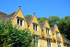 Cottages with dormer windows, Castle Combe. Royalty Free Stock Photo