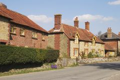Cottages at Easebourne. Sussex. UK Stock Images