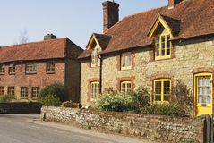 Cottages at Easebourne. Sussex. UK Royalty Free Stock Image