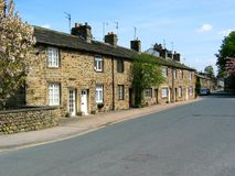 Cottages in Embsay, North Yorkshire Stock Photo