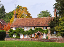 Cottages on an English Village Street Stock Photos