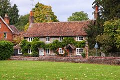 Cottages on an English Village Street Stock Photo
