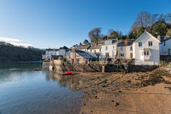 Cottages at Fowey in Cornwall Stock Photos