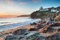 Cottages at Hallsands in Devon Royalty Free Stock Image