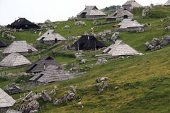 Cottages in Julian Alps Royalty Free Stock Photo