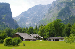 Cottages at Konigssee Stock Photography