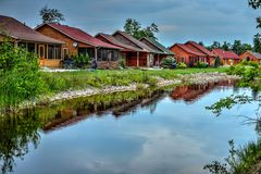 Cottages on the Lake Stock Image