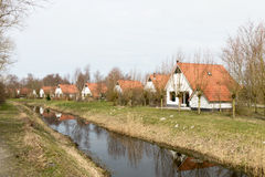 Cottages in the Landal Nature resort Suyderoogh. Royalty Free Stock Image