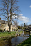 Cottages at Lower Slaughter, Royalty Free Stock Images