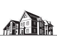 Cottages, maisons de campagne illustration libre de droits