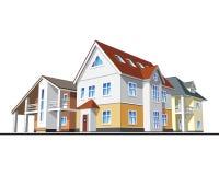 Cottages, maisons de campagne illustration stock