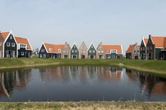 Cottages in the Marina Park. Royalty Free Stock Image