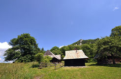 Cottages in mountains Royalty Free Stock Images