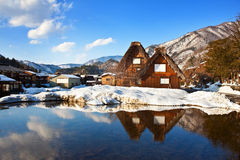 Cottages at Ogimachi Village Stock Photo