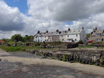 Cottages overlooking Craster Harbour Northumberland Stock Photo