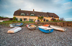 Cottages at Porlock Weir on the Somerset Coast Stock Photography