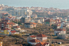 Cottages in Saint Vlas in Bulgaria, winter Stock Images