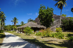 Cottages in Seychelles style. Stock Images