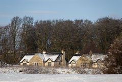 Cottages in the snow Royalty Free Stock Images