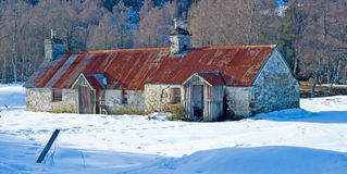 Cottages in the snow. Royalty Free Stock Photo