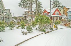 Cottages in the Snow Royalty Free Stock Photography